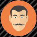 avatar, classic, face, head, man, round icon