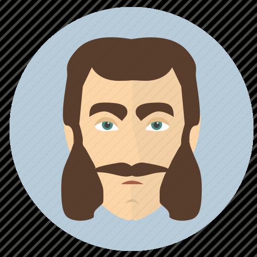 avatar, beard, classic, man, old icon