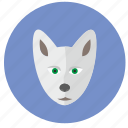 avatar, head, polar, round, wolf icon