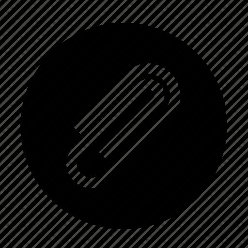 attach, attachment, case, file, paper clip, roundedsolid icon