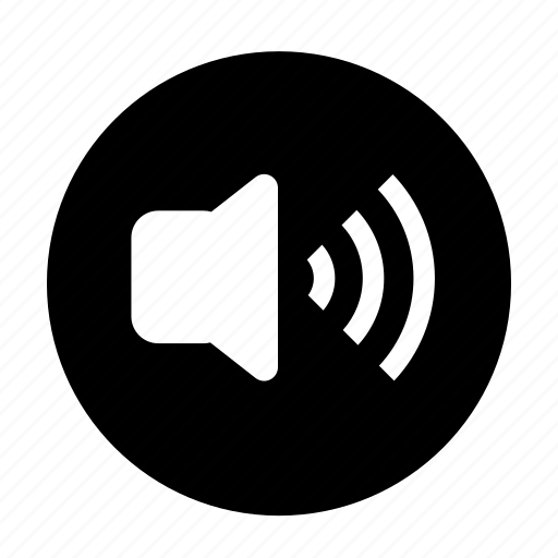 audio, roundedsolid, sound, speaker, voice, volume icon