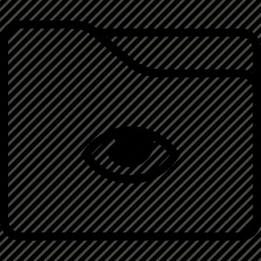 eye, folder, privacy, public, security icon