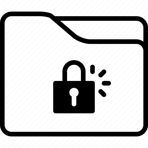 folder, locked, padlock, private, security icon