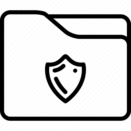 encrypted, folder, password, private, protected, security, shield icon