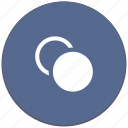 circle, copy, dublicate, form, object, round icon