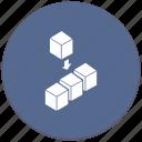 block, code, compile, cube, process, program