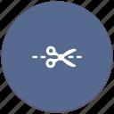 border, cut, divide, erase, line, separate icon