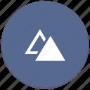 dublicate, form, geometry, object, triangle icon