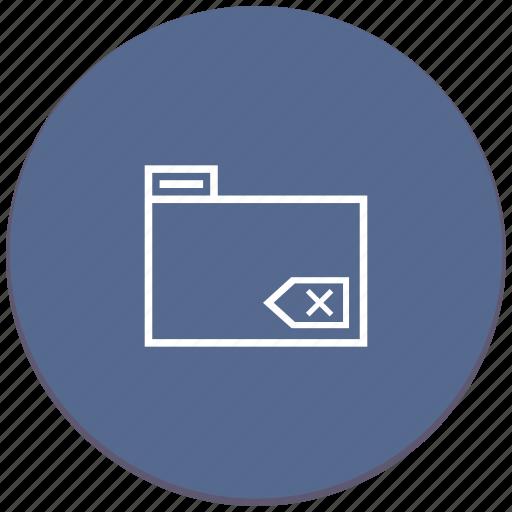 backspace, erase, folder icon