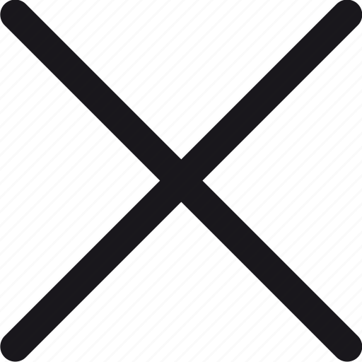 cancel, close, cross, delete, remove, x icon