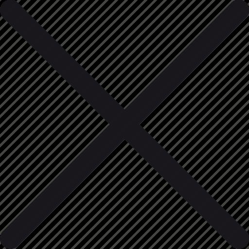 cancel, close, cross, x icon