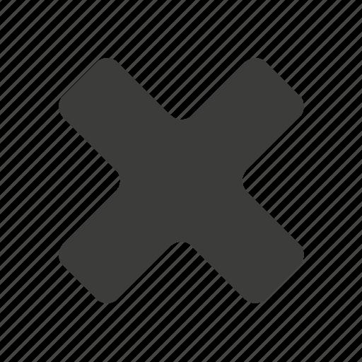 No, clear, cross, remove, close, delete, stop icon