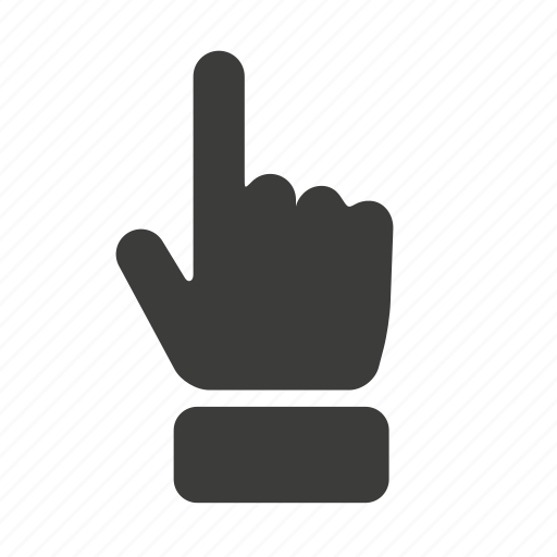 cursor, finger, gesture, hand, point, pointer, up icon