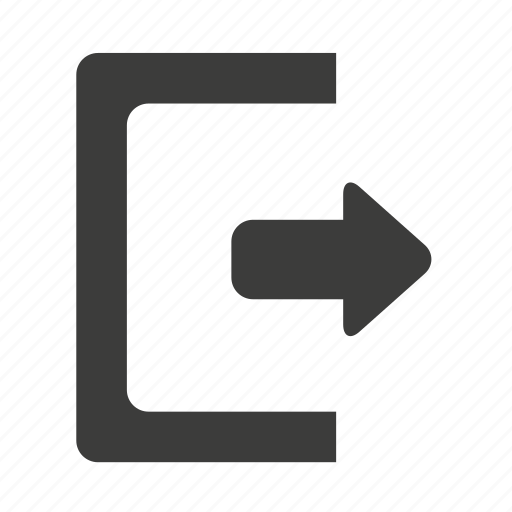 exit, get out, log out, logout, out, quit, sign out icon