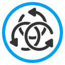 complex, knot, revolve, rotate, rotation arrows, spin, twirl icon