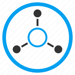 connect, connection, graph, hierarchy, molecular, project, radial structure icon