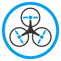 aircraft, airdrone, flying drone, hover, motor, rotorcraft, tricopter icon