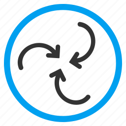 hurricane, revolve, rotate, spin, swirl direction, twirl, whirl arrows icon