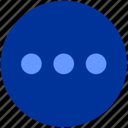 additional, dot, horizontal, menu icon