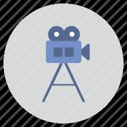 camera, film, movie, record icon