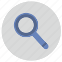 glass, instrument, loop, magnifier icon