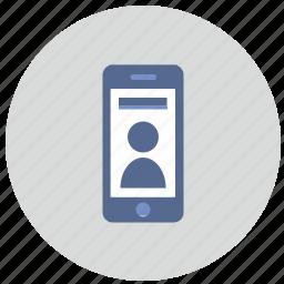 id, mobile, phone, smartphone, user icon