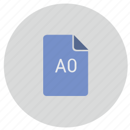 a0, document, format, list, paper icon