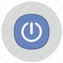 push, on, electric, power, start icon