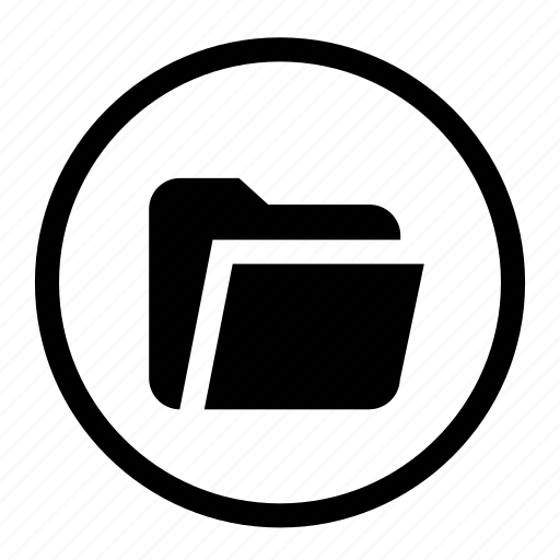 case, document, file, folder, paper, roundedwhite icon