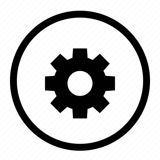 cog, gear, option, preferences, roundedwhite, setting icon