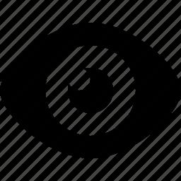 eye, eyeball, view, visible icon