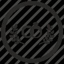 laurel, marriage, ring, round, wedding icon