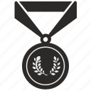 branch, champion, gold, laurels, medal, win, winner icon