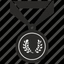 branch, champion, gold, laurels, medal, win, winner icon