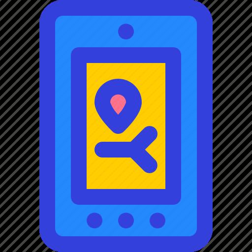 application, gps, location, smartphone, tech icon