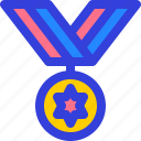 badge, medal, ribbon, star, winner icon
