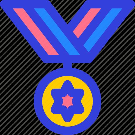 badge, medal, ribbon, star, winner icon