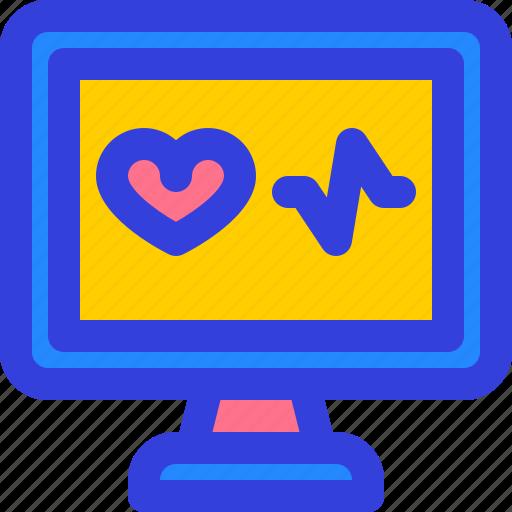 computer, condition, health, hospital, monitor icon