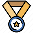 award, champion, coin, competition, medal, sports, winner icon