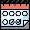 calendar, date, plan, program, schedule, time, training icon