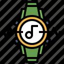 audio, electronics, music, play, running, smartwatch, sports icon