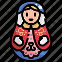decoration, doll, matryoshka, russian