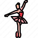 ballet, choreography, dance, dancer, dancing, music, woman icon