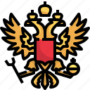 crest, coat, emblem, shield, russia, arms icon
