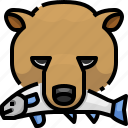 animal, bear, grizzly, life, wild icon