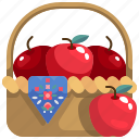 basket, diet, food, healthy, organic, vegan, vegetarian icon