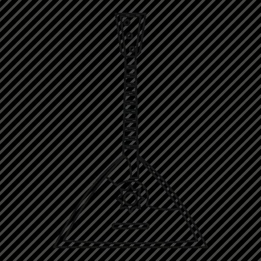 balalaika, line, music, outline, retro, string, traditional icon