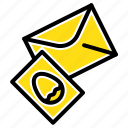 easter, egg, mail, massege icon