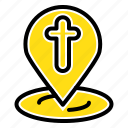 easter, location, map, pin icon