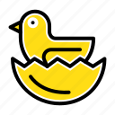 duck, easter, egg icon